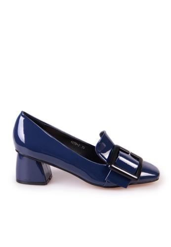 Sunnydaysweety blue 2017 Korean new buckle leather high-heeled shoes C03151 SU443SH75WZSHK_1