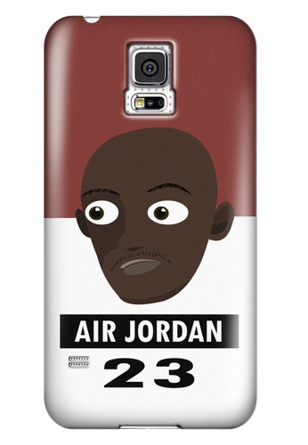 Wonder Cover black and white and brown and red Air Jordan Matte Hard Case for Samsung Galaxy S5 WO617AC04AHZPH_1