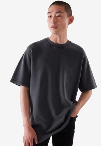 COS blue Oversized-Fit Sweat T-Shirt 1EC68AADB490ECGS_1
