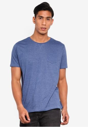 Brave Soul 藍色 口袋T恤 507D9AA8FF14E6GS_1