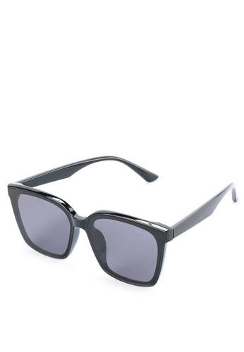 Urban State black Polarized Plastic Night Square Sunglasses CCE55GL1E545F0GS_1