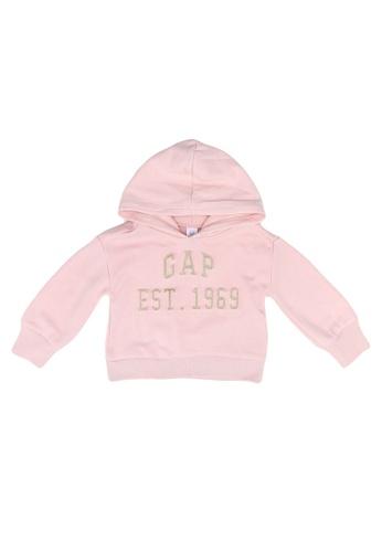 GAP pink Emboss Logo Pop Hoodie B93B9KAA4F4C76GS_1