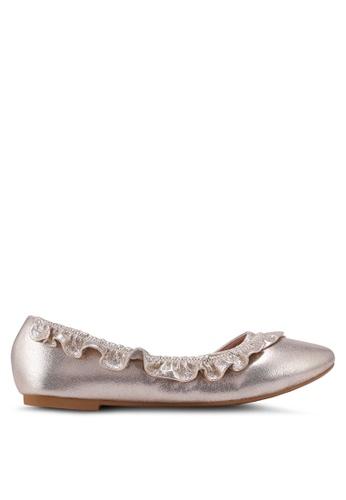 Carlton London gold Ruffle Flats 8FA28SH2D99838GS_1
