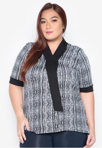 Lulu grey Plus Size Aisa Top LU439AA0IWCAPH_1