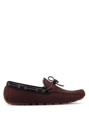 Burton Menswear London brown Brown Suede Look Driving Loafers 33A19SH08B9AA4GS_1