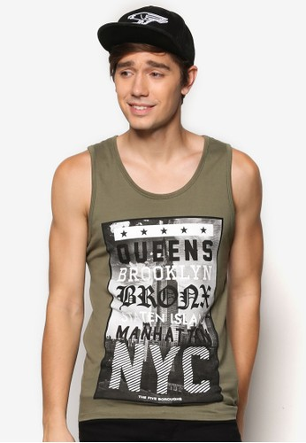 Canotta Con Stampa Singlet、 服飾、 T恤AlcottCanottaConStampaSinglet最新折價