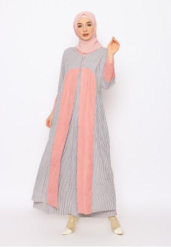Edissy Fashion pink Tiqasya Dress Rompi Codoray E12E0AAE79FF0CGS_1