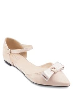 【ZALORA】 Clara 蝴蝶結側空包跟平底鞋