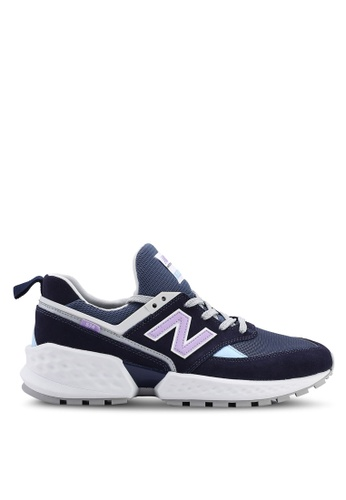 New Balance multi and navy 574S Tier 2 90?s Patch Work Shoes 34857SH1CB2C45GS_1