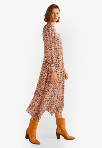Mango brown Snake Print Gown 600C1AAD0706EBGS_1
