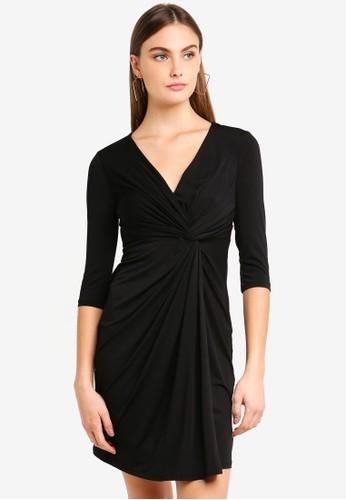 ONLY black Alberte 3/4 Knot Midi Dress 0FEDEAA76F9D91GS_1