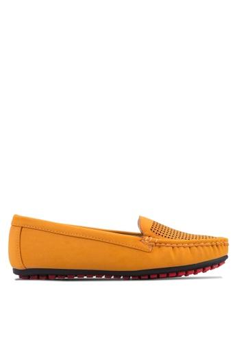 Noveni orange Comfy Loafers NO978SH68VADMY_1