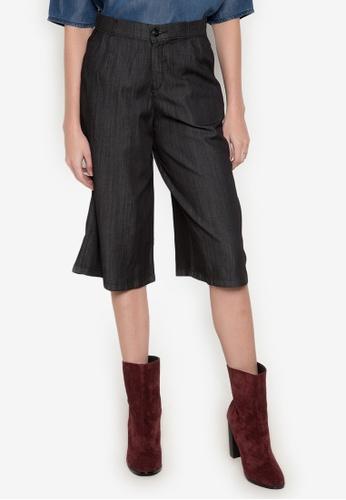 Wrangler black Wrangler Culottes Shorts WR067AA0K5GTPH_1