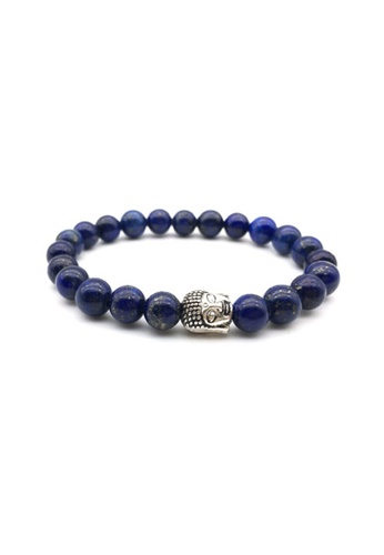 Memento Collection blue Buddha Detailed Lapis Lazuli Bracelet ME060AC02SNXMY_1
