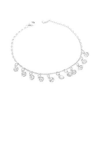 Glamorousky silver Charming Bracelet with Silver Austrian Element Crystals 180B6AC0645C10GS_1