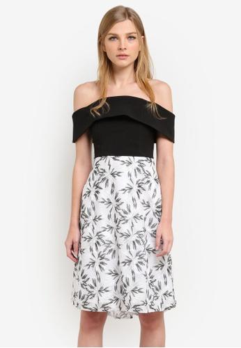 Vesper black Nettie Embroidered Full Skirt Dress VE733AA0S78SMY_1