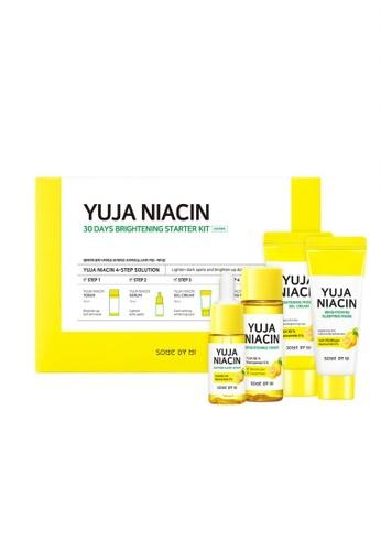 SOMEBYMI Somebymi Yuja Niacin 30 Days Brightening Starter kit (Toner 30ml +Serum 10ml + Gel Cream 30ml + Sleeping Mask 20g) 3510CBEAA4B07DGS_1