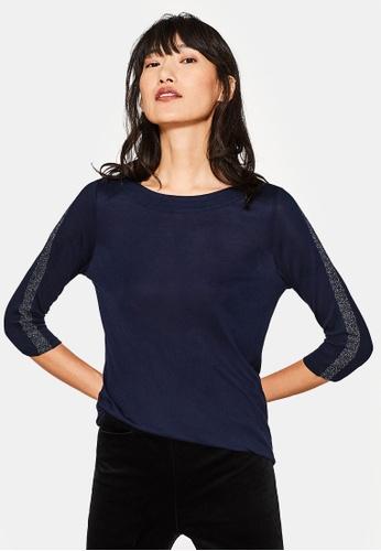 Esprit navy 3/4 Sleeve T-Shirt ES374AA0SAZOMY_1