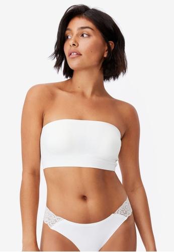 Cotton On Body beige Invisible Bonded Bandeau Bra 3B86CUS2CC3411GS_1