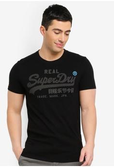 b54f75e822f512 Superdry black Vintage Logo Monochrome Tee 01E82AA65EE06DGS 1