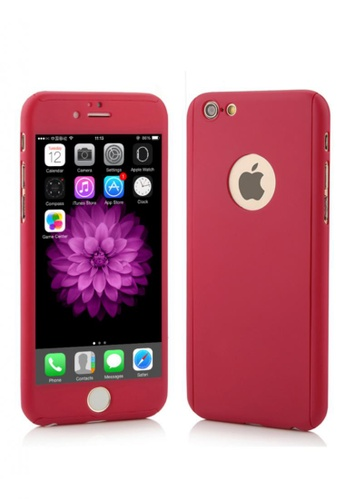 397e4d3520f Shop Nadjames 360 Full protection cover Case For Apple iPhone 6 Plus 5.5  Online on ZALORA Philippines