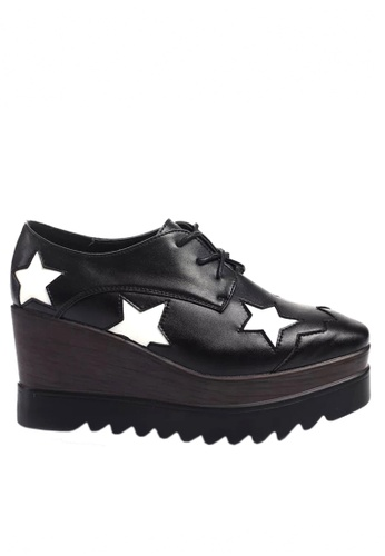 Twenty Eight Shoes Cow Leather Star Pattern Platform Shoes VWA121 TW446SH2UXQJHK_1