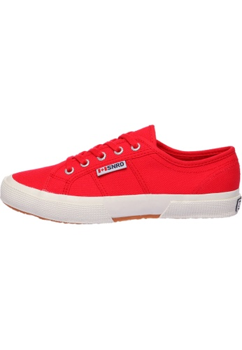 paperplanes red SNRD-107 Unisex Fashion Casual Lace Up Canvas Sneakers Shoes PA110SH40PAHHK_1
