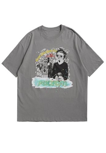 Twenty Eight Shoes Trend Printed Short T-shirt 1528S21 1E2FBAA2858FB5GS_1