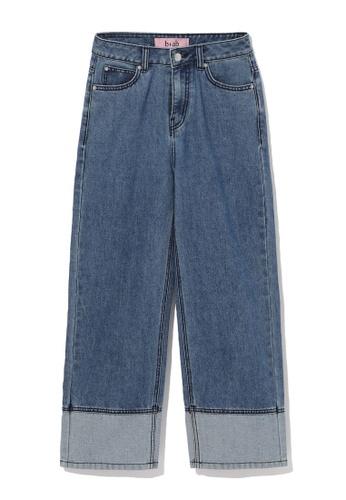 b+ab blue Panelled culotte jeans 0F722AAD3BCFA8GS_1