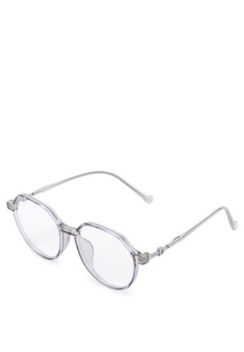 Kingship grey Signature Kacamata Anti Blue Light Hexar Eyewear 747FFGL25954B1GS_1