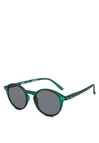 Izipizi 綠色 SUN LetmeSee #D Green Crystal Lenses +0.00 Sunglasses 207D7GL2106D19GS_1