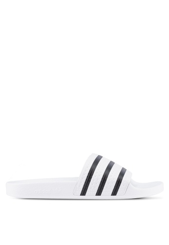 adidas white adidas originals adilette AD372SH0SSMWMY_1