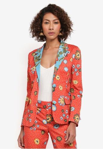 Syomirizwa Gupta red Red Batik Print Jacket SY754AA0STE6MY_1