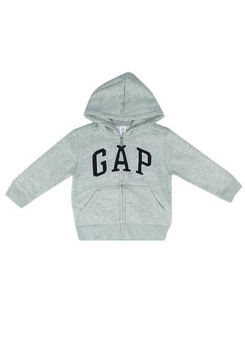 GAP grey Logo Zip Hoodie E5A03KA7CA16C9GS_1