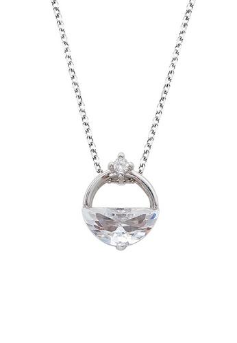 Twenty Eight Shoes silver VANSA Simple Diamond Pendant Necklace VAW-N265 ADE5BAC858C22AGS_1