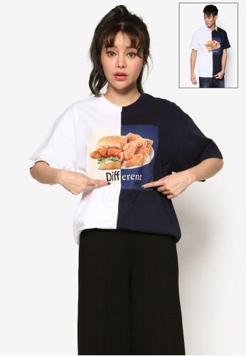 撞色圖文設計T 恤, esprit hong kong 分店服飾, 上衣