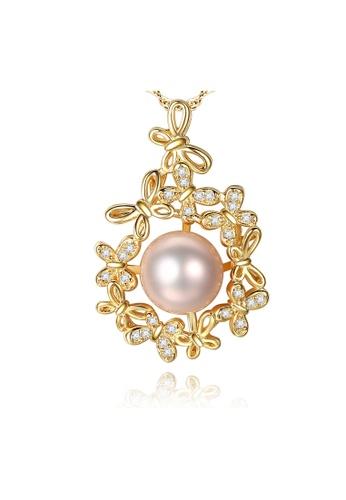 SUNRAIS gold High-grade colorful stone gold fashion necklace E803FAC7524F56GS_1