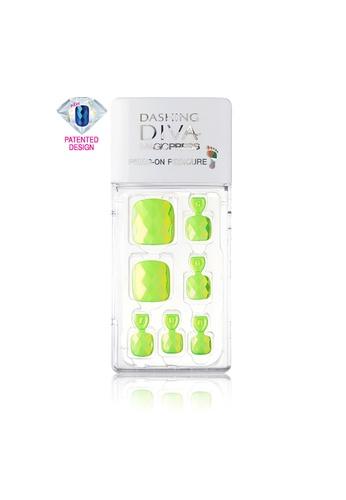 Dashing Diva green Dashing Diva 1 SEC. MAGIC PRESS Pedicure Delight Green / Press on Nails /Nail Tips BEB1CBE5DB8710GS_1
