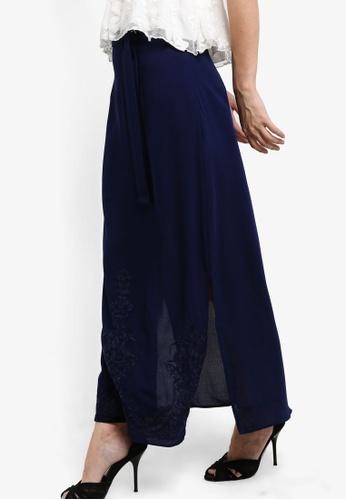 ZALORA navy Embroidered Skirt EB697AA5C6E963GS_1
