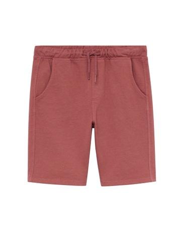 MANGO KIDS red Organic Cotton Jogging Bermuda Shorts 7B0DCKAC598181GS_1