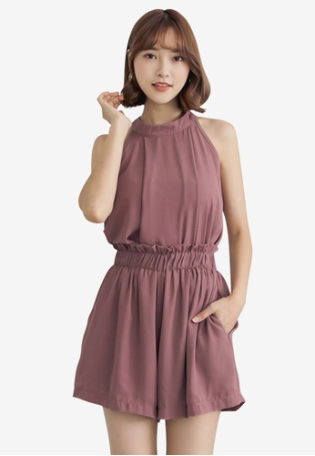 Tokichoi pink Chiffon Halter Blouse With Shorts AD026AA8794524GS_1