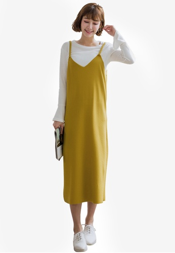 Tokichoi yellow Two Piece Pinafore Dress 47D1CAA71EFBCFGS_1