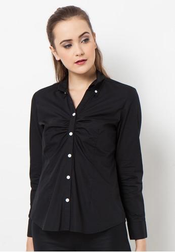 A & D black A&D MS 612 Shirt Long Sleeve - Black AD532AA43TRWID_1