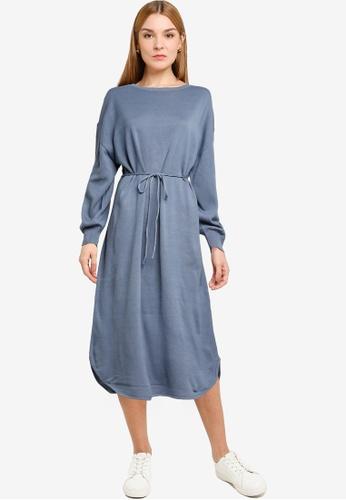 LOWRYS FARM blue Drop Shoulder Dress C0116AA07281A9GS_1