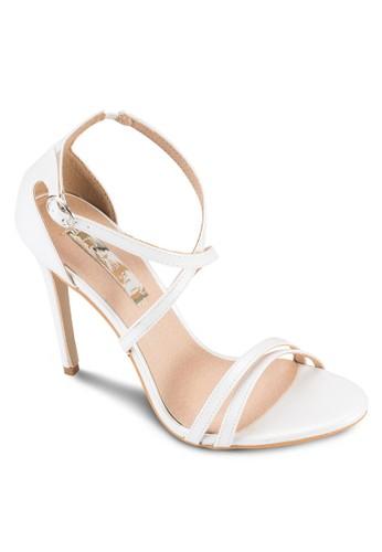 Gardenia 雙帶交esprit 台北叉踝帶高跟涼鞋, 女鞋, 鞋