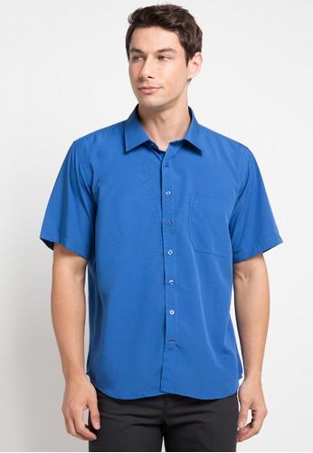Cardinal blue Kemeja Polos Formal 8A023AACA5D798GS_1