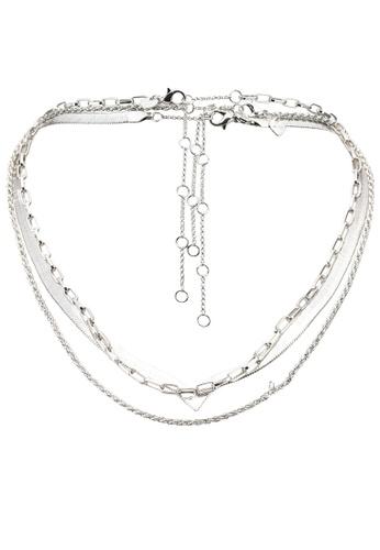 ALDO silver Ediagan Necklace 8864AACA79D70DGS_1