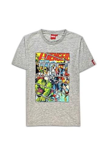 MARVEL grey Marvel Genuine Men Avengers Short Sleeve T Shirt Grey VIM20716 79BCFAA3553119GS_1
