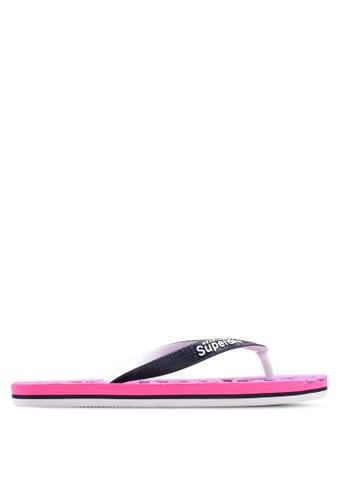 Superdry pink and purple Scuba Flip Flops C3588SHAAF8343GS_1