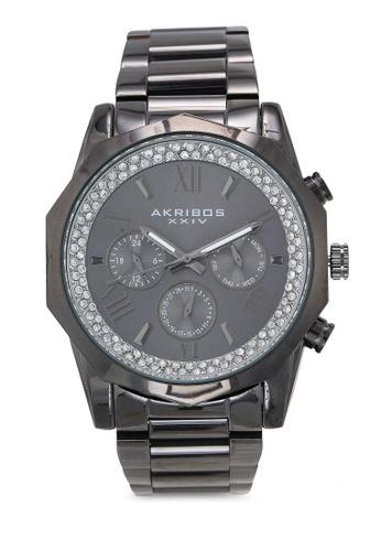 Akribos XXIV grey Date Stainless Steel Watch 9CB36ACFA7A062GS_1